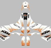 KTM SE Marathon Kit Splash White/Orange